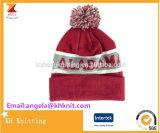 Горячий продавая милый шлем зимы жаккарда с верхней частью POM POM