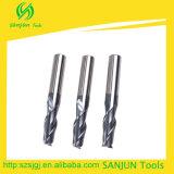 2 Edge End Mill Tungsten Carbide Tools Fresador CNC com revestimento de aitina