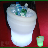 Vino blanco Cantainer de la helada del cubo de hielo del PE LED de Champán impermeable