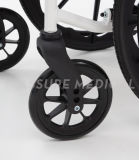 Peso ligero, silla de plegamiento, sillón de ruedas de acero (YJ-037E)