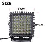 9 indicatore luminoso di azionamento quadrato di pollice 360W LED per programma di utilità 4WD 4X4 che estrae automobile marina eccetto