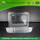 Plástico desobstruído recipiente Take-out articulado do alimento