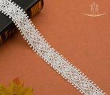 バルク中国のマークの乾燥したオーガンザのボイルのアフリカのスイス人のポーランド人のトリムの有機性白い刺繍のレース