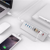 Eje de 10 puertos USB 5Gbps 7 puertos USB 3.0 y 3 puertos de carga USB para iPhone iPad