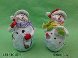 Figurine della statua dell'uomo della neve di natale per l'ornamento