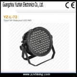 IP67 Stage 72pcsx3w RGBW Waterproof LED PAR Lighting