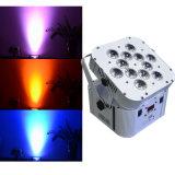 Xlighting 12PCS LED DMX無線電池の同価ライト使用屋内LEDの段階ライト