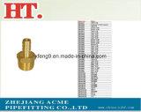 Ajustage de précision mâle en laiton d'adaptateur de picot de boyau (1/8*1/16)
