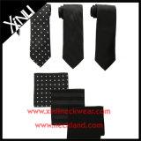 Laços magros tecidos jacquard da seda de 100% e quadrados Pocket