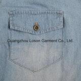 Рубашка джинсовой ткани повелительниц одежды способа женщин