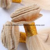 Cabelo humano do russo louro de Remy/cabelo reto russo da queratina