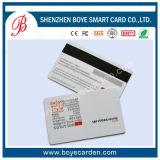 Cartão popular da listra magnética do PVC 2750oe Hico da base do ouro