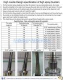 Высокое сопло фонтана брызга в нержавеющей стали (20-120m)