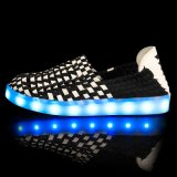 Zapatos de la Caliente-Venta LED con la batería cargable del USB en zapatos de los deportes