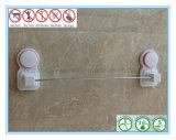 ステンレス鋼空気吸引のコップが付いている単一棒浴室タオルの棚は吸収する