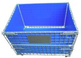 Opvouwbaar Wire Mesh Storage Cage Wire Mesh Mand voor Warehouse