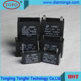 Condensatore del condensatore 3UF 450V del ventilatore Cbb61