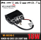 barra ligera auto 18W 1800lm IP67 de 4D LED