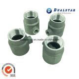 Aluminiumventil-Gussteil mit CNC, der für Befestigungsteile maschinell bearbeitet