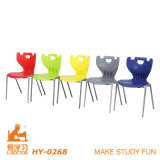 Metall Student Chair mit Colorful Plastic pp. Shell
