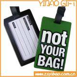 Etiqueta de bagagem de PVC macio com logotipo embossado personalizado (YB-SM-02)