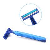 Máquina de afeitar disponible de la lámina gemela, Polybag 10PCS que empaqueta la maquinilla de afeitar de seguridad recta