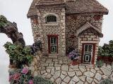 Micro mestiere di Polyresin del Figurine della decorazione dell'ornamento di paesaggio del giardino della Camera miniatura leggiadramente della villa