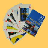 La promoción publicitaria plástica de las tarjetas que juegan del 100% carda el póker