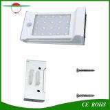 20 luz dévil impermeable de las lámparas PIR del LED del cuerpo humano de movimiento del sensor de la luz al aire libre solar de la pared con la batería reemplazable