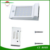 20 lámpara impermeable al aire libre de la seguridad de la luz de la pared del sensor de movimiento de la energía solar PIR del LED con la batería reemplazable