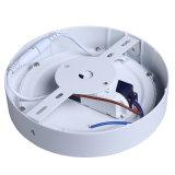 Da luz de teto redonda da lâmpada da iluminação de painel do diodo emissor de luz da tampa de prata branca garantia (CE/RoHS/FCC, 3years)
