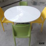 Grande Tabella pranzante di superficie solida rotonda bianca per il ristorante (T1705301)
