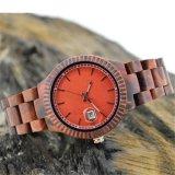 OEMの新式の木の腕時計のカレンダの腕時計