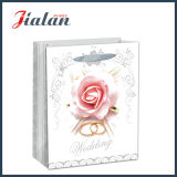Glossy Laminated Art Paper Wedding Flowers Shopping Sac à papier cadeau