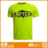 Camiseta de secado rápido de los deportes de los hombres que ajusta