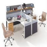 Divisória moderna da mesa de escritório do compartimento da venda quente com tela e gavetas de suspensão para a mobília de escritório