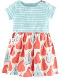 La robe de fille d'enfants de fleur dans les gosses vêtx (SQD-113)