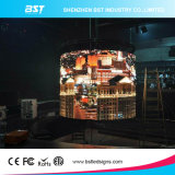 Der meiste preiswerte P6mm gebogene LED-Innenbildschirm