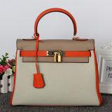 Borsa Emg4667 del cuoio genuino dei sacchetti di Tote delle signore della borsa del progettista della donna