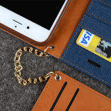 iPhone 6sのための革Case Card Slots Detachable Chain Strap