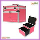 Professioneller rosafarbener beweglicher Nagel-Kunst-Werkzeugkasten mit Teilern (SACMC015)