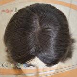 Toupee superiore di seta ebreo del cappello a cilindro dei capelli scuri