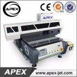 Máquina de nuevo diseño de cama plana UV para impresión de plástico / madera / cristal / acrílico / metal / cerámica / Cuero Impresión