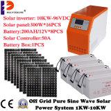Gemäßigter Standplatz der Kosten-10kw/10000W allein Solar-PV-Stromnetz für Haus