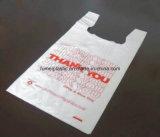 LDPE van de Douane van de supermarkt Biologisch afbreekbare Transparante HDPE het Winkelen van de T-shirt Zak