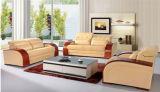 Sofa à la maison de cuir véritable de meubles avec du bois rouge