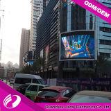 Schermo esterno di P10 LED video per la costruzione della parete