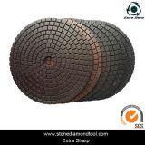Garniture de polonais flexible de résine de cuivre de 7 pouces pour le granit