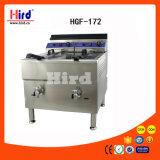 Máquina doble de la hornada del equipo del hotel del equipo de la cocina de la máquina del alimento del equipo del abastecimiento del Bbq del equipo de la panadería del Ce de las válvulas de los tanques 2 de la sartén del gas (Hgf-172)