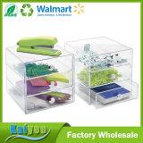 Organisateur de mémoire de 3 tiroirs pour des produits de beauté, produits de beauté, espace libre